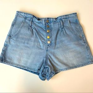 American Eagle Mom Shorts Button Fly High Rise